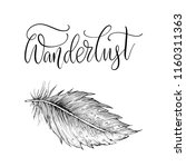 wanderlust. detailed hand drawn ... | Shutterstock .eps vector #1160311363