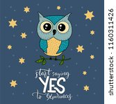 cute hand vector drawn card... | Shutterstock .eps vector #1160311426