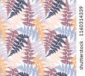 fern frond herbs  tropical... | Shutterstock .eps vector #1160314339
