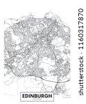 vector poster detailed city map ... | Shutterstock .eps vector #1160317870