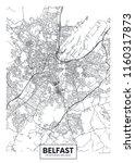 vector poster detailed city map ... | Shutterstock .eps vector #1160317873