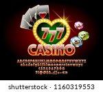 vector casino golden chic sign... | Shutterstock .eps vector #1160319553