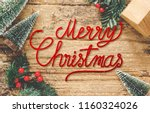 top view of handwriting red... | Shutterstock . vector #1160324026