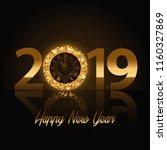 vector 2019 happy new year... | Shutterstock .eps vector #1160327869