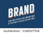 modern bold 3d font design ... | Shutterstock .eps vector #1160327926