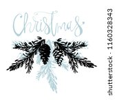 merry christmas hand drawn... | Shutterstock .eps vector #1160328343