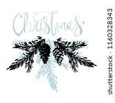 merry christmas hand drawn... | Shutterstock .eps vector #1160328343