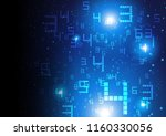 abstract digital numbers with...