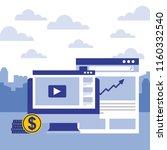 computer website financial... | Shutterstock .eps vector #1160332540