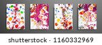 hand drawn collection of card... | Shutterstock .eps vector #1160332969