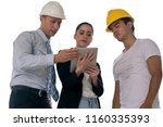 team engineer isolated on white ... | Shutterstock . vector #1160335393