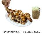 roast or grilled chicken thai... | Shutterstock . vector #1160335669