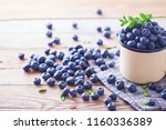 lots of fresh blueberries  ... | Shutterstock . vector #1160336389