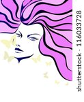 hair woman | Shutterstock .eps vector #116033728