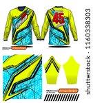 long sleeve motocross jerseys t ... | Shutterstock .eps vector #1160338303