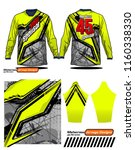 long sleeve motocross jerseys t ... | Shutterstock .eps vector #1160338330