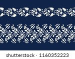 set of 2 seamless woodblock... | Shutterstock .eps vector #1160352223