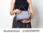 close up of gray leather... | Shutterstock . vector #1160358499