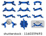 banners and ribbons set with...   Shutterstock .eps vector #1160359693