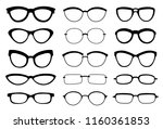 a set of glasses isolated.... | Shutterstock .eps vector #1160361853