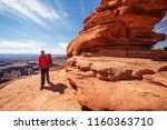 Hiker In Canyonlands National...