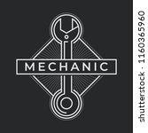 auto mechanic service. mechanic ... | Shutterstock .eps vector #1160365960