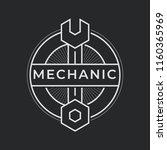 auto mechanic service. mechanic ... | Shutterstock .eps vector #1160365969