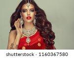 portrait of beautiful indian...   Shutterstock . vector #1160367580