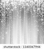 snowflakes and stars descending ... | Shutterstock . vector #1160367946