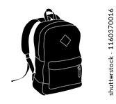 backpack  black silhouette | Shutterstock .eps vector #1160370016