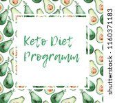 keto diet template on... | Shutterstock . vector #1160371183