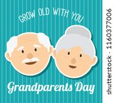 happy grand parents day for... | Shutterstock .eps vector #1160377006