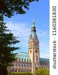 view of famous hamburg town... | Shutterstock . vector #1160381830