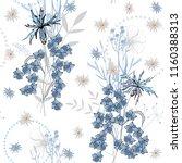 botanical motifs. isolated... | Shutterstock .eps vector #1160388313