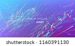 abstract lines flow. dynamic... | Shutterstock .eps vector #1160391130