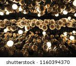 close up many yellow lamp in... | Shutterstock . vector #1160394370