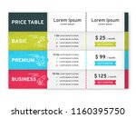 price table for websites and...   Shutterstock .eps vector #1160395750
