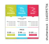 price table for websites and... | Shutterstock .eps vector #1160395756
