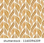 geometric golden leaves vector...   Shutterstock .eps vector #1160396209