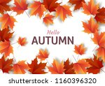 autumn leaves. bright colourful ... | Shutterstock .eps vector #1160396320