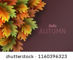autumn leaves. bright colourful ... | Shutterstock .eps vector #1160396323