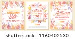 autumn special offer banners... | Shutterstock .eps vector #1160402530