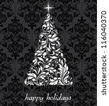 vintage christmas card with... | Shutterstock .eps vector #116040370