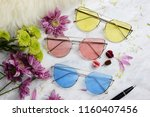 eyewear sun glasses photography  | Shutterstock . vector #1160407456