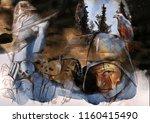 horror. an hand drawn... | Shutterstock . vector #1160415490