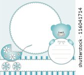 babies blue background with... | Shutterstock . vector #116041714