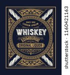 whiskey label with old frames.... | Shutterstock .eps vector #1160421163
