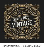 art deco frame and label design ... | Shutterstock .eps vector #1160421169