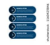 simple modern infographics... | Shutterstock .eps vector #1160425846