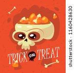 halloween. inscription trick or ...   Shutterstock .eps vector #1160428630